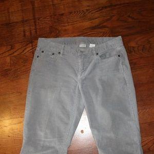 J. Crew Gray Cords Jeans